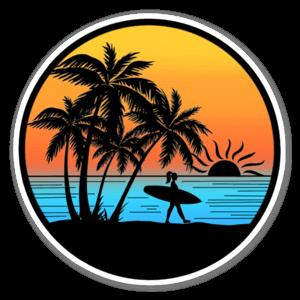 Sunset Surfer sticker