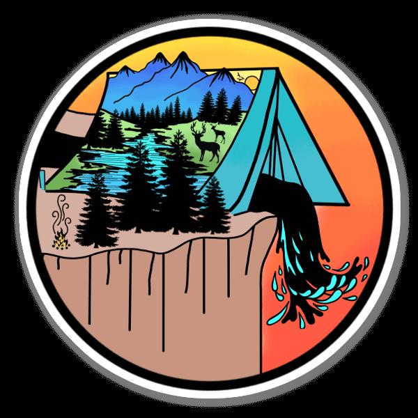 River Tent  sticker