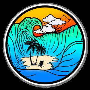 Free waves sticker