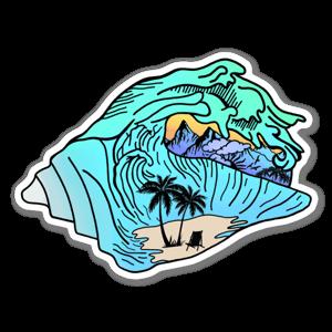 Shell wave sticker