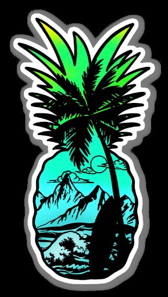 Piña Azul pegatina