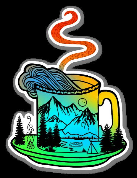 Café campestre pegatina