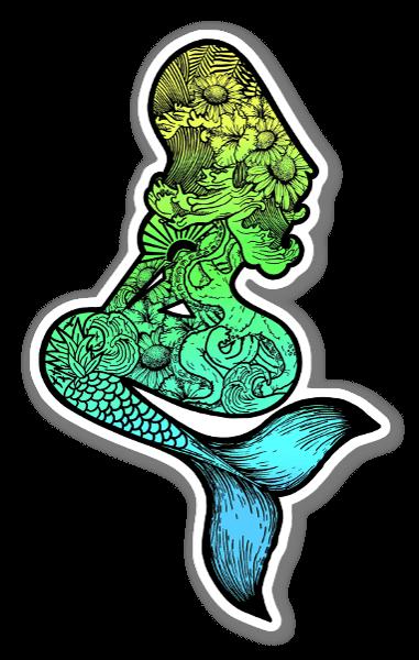 Sirena pegatina