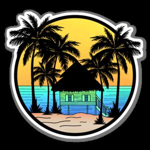Beach shack sticker