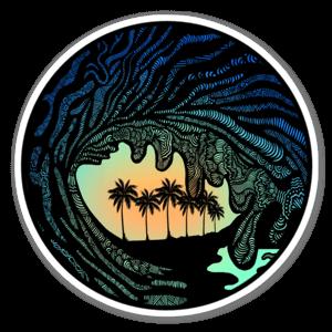 Zen wave sticker
