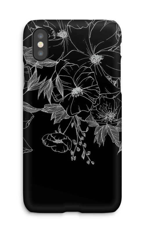 Tattoo floral Coque  IPhone X