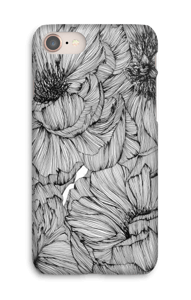 Black Paeonia Coque  IPhone 8