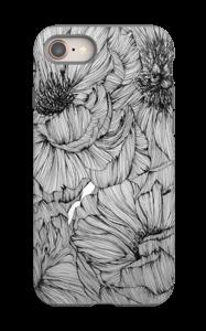 Black Paeonia Coque  IPhone 8 tough