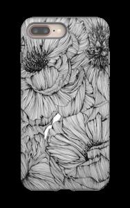 Black Paeonia Coque  IPhone 8 Plus tough