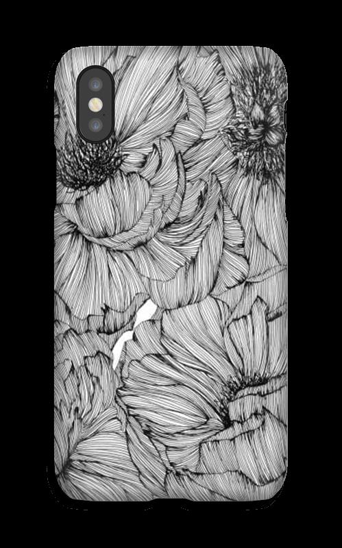 Black Paeonia Coque  IPhone X