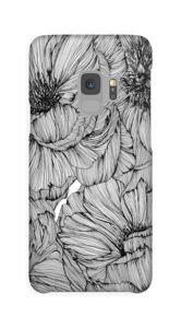 Black Paeonia Coque  Galaxy S9