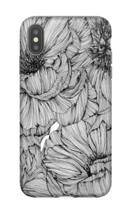 Black Paeonia Coque  IPhone XS Max tough