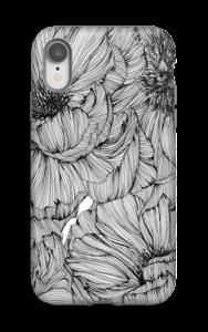 Black Paeonia Coque  IPhone XR tough