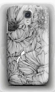 Black Paeonia Coque  Galaxy S4