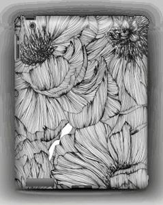 Black Paeonia Coque  IPad 4/3/2