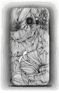 Black Paeonia case Galaxy S7