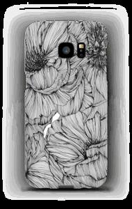 Black Paeonia Coque  Galaxy S7 Edge