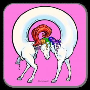 Unicornoborus  sticker