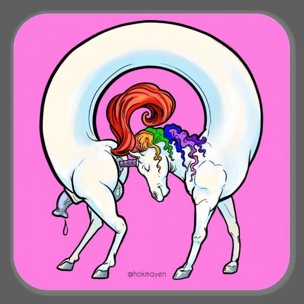 Unicornoborus pegatina