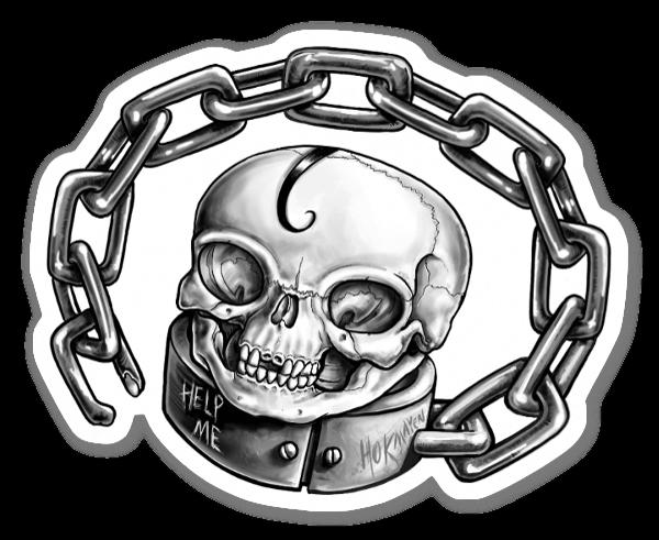 Kette mit Totenkopf sticker