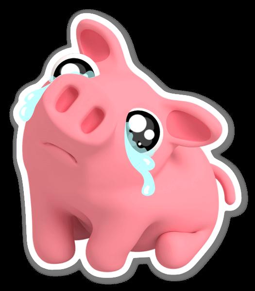 Rosa weint sticker