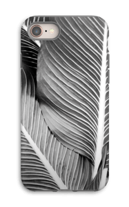 Black & White Leaves case IPhone 8 tough