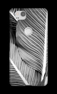 Schwarze & Weiße Blätter Handyhülle Pixel 2