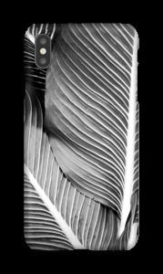 Schwarze & Weiße Blätter Handyhülle IPhone XS Max