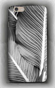 Schwarze & Weiße Blätter Handyhülle