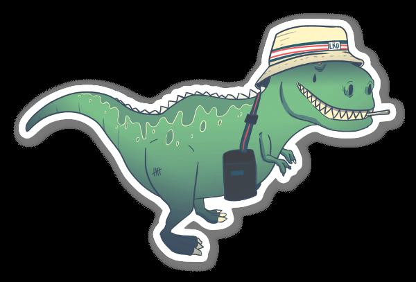 Dino Turista pegatina