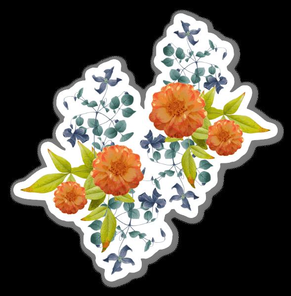 Botanisch 5 sticker