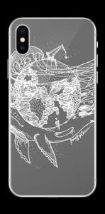 Flygande Jord i grått Skin IPhone X