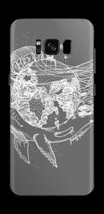 Flygande Jord i grått Skin Galaxy S8