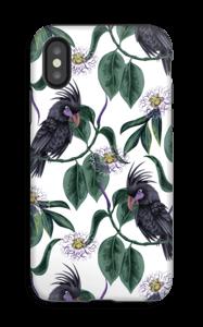 Kakadua på vitt skal IPhone X tough