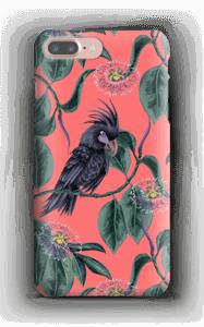 Kakadua på rosa skal IPhone 7 Plus