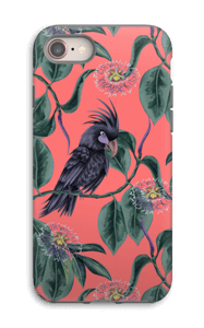 Cockatoo pink case IPhone 8 tough