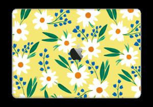 """Valkoiset kukat tarrakuori MacBook Pro 13"""" 2016-"""