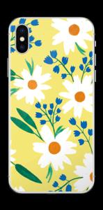 Valkoiset kukat tarrakuori IPhone X
