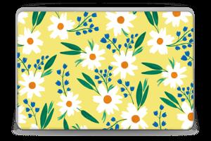 Valkoiset kukat tarrakuori Laptop 15.6