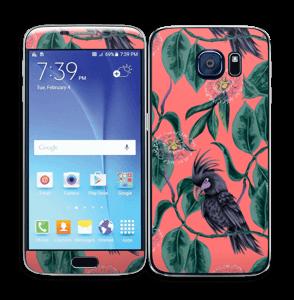Cockatoo on pink Skin Galaxy S6