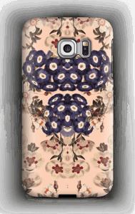 Mørke blomster cover Galaxy S6 Edge