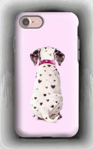 Dalmatiner i hjerter cover IPhone 7 tough