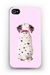 Dalmatiner i hjerter cover IPhone 4/4s