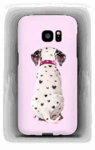 Dalmatiner i hjerter cover Galaxy S7 Edge