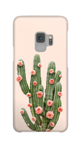 Cactus i blomster cover Galaxy S9
