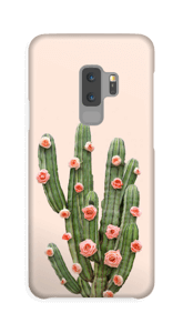 Cactus i blomster cover Galaxy S9 Plus
