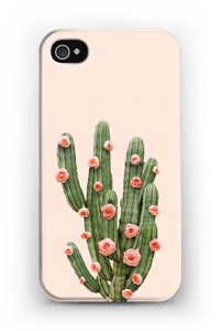 Cactus i blomster cover IPhone 4/4s