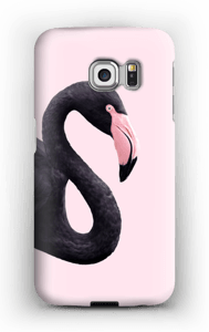 Musta flamingo kuoret Galaxy S6 Edge