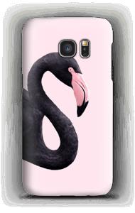Schwarzer Flamingo Handyhülle Galaxy S7