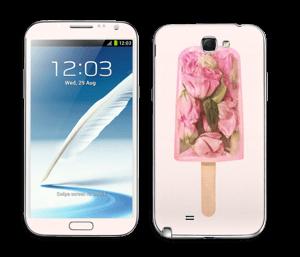Ruusuinen mehujää tarrakuori Galaxy Note 2